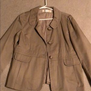 J. Crew Khaki Chino Twill Jacket size 14